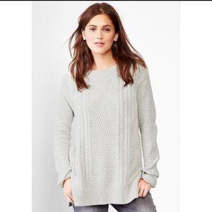 GAP Boyfriend Oversize Cable Knit Wool Sweater